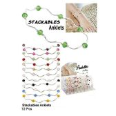 72 Units of STACKABLES ANKLETS