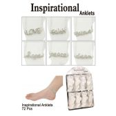 72 Units of INSPIRATIONAL ANKLETS