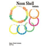 72 Units of NEON SHELL ANKLETS