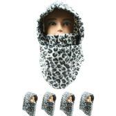 36 Units of Unisex Adult Winter Ninja Winter Hat Leopard Print - Fashion Winter Hats