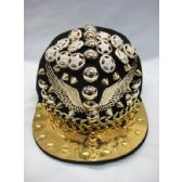 12 Units of LADIES BASEBALL CAP WITH GOLD BRIM CHAIN AND WINGS