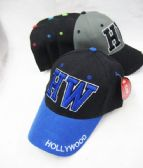 24 Units of BASEBALL CAP ASSORTED COLORS HOLLYWOOD