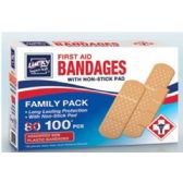 144 Units of First Aid Bandages - First Aid / Band Aids