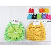 96 Units of Kids' Crochet Hat with Decorations - Baby Accessories