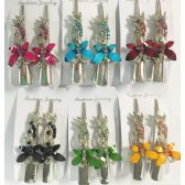 96 Units of Metal Hair Clip Rhinestone Butterfly Design - Hair Accessories