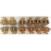 96 Units of Rhinestone Hair Clip Golden Color - Hair Accessories