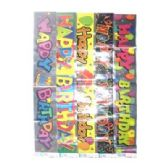 "96 Units of Birthday Banner L - Asst 13""x11""x5"" - Party Banners"