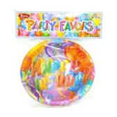 "144 Units of 8ct 6"" Birthday Plates - Party Tableware"