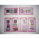 96 Units of colorful hair grip bobby pins - Hair Accessories