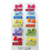 96 Units of Bow Tie Style Hair Clip and Bobby Pin - Hair Accessories