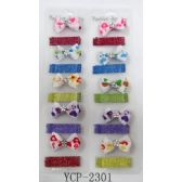 96 Units of Bow Tie style Hair Clip with Bobby Pin - Hair Accessories