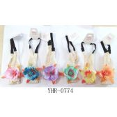 96 Units of Crochet Headband with Colorful Flowers - Headbands