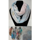 12 Units of Extra-Wide Light Weight Infinity Scarf [Circular Pattern] - Womens Fashion Scarves
