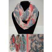 36 Units of Extra-Wide Light Weight Infinity Scarf [Floral] - Womens Fashion Scarves