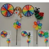 """60 Units of 11"""" Wind Spinner with Character-5 Styles"""