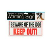 72 Units of Dog Warning Sign - Pet Accessories
