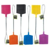 48 Units of Rect Shape 6color 2pk Metal Handle Fly Swatter - Fly Swatters