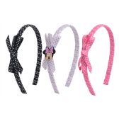 24 Units of Wholesale Minnie Headband Set