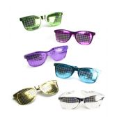 12 Units of Jumbo Mesh Shades - Assorted 12ct - Costumes & Accessories