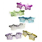 12 Units of Jumbo Star Slotted Shades - Assorted 12ct - Costumes & Accessories
