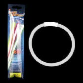 300 Units of 8 Inch Retail Packaged Glow Bracelets - White - LED Party Supplies
