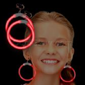 300 Units of Glow Earrings - Red - LED Party Supplies