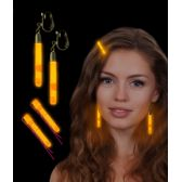 288 Units of Glow Hair Pins And Earrings Set - Orange - LED Party Supplies