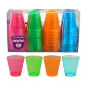 10 Units of Assorted Neon 2oz Shot Glasses - 60ct - LED Party Supplies