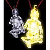 36 Units of Glow Stick Halloween Skeleton - Yellow - LED Party Items