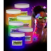 Glominex Glow Body Paint 16oz Jars - Assorted - LED Party Supplies