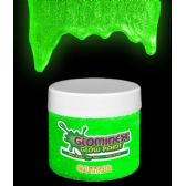 48 Units of Glominex Glitter Glow Paint 2 oz Jar - Green - LED Party Supplies