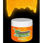 48 Units of Glominex Glitter Glow Paint 2 oz Jar - Orange - LED Party Supplies
