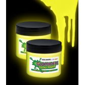48 Units of Glominex Glow Paint 2 oz Jar - Yellow - LED Party Supplies