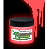 12 Units of Glominex Glow Paint 8 oz Jar - Red - LED Party Supplies