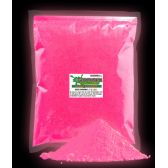4 Units of Glominex Glow Pigment 1 kg - Pink - LED Party Supplies