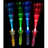 12 Units of LED Fiber Optic Princess Wands - Assorted - LED Party Supplies
