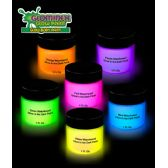 12 Units of Glominex Glow Body Paint 1oz Jars - Assorted 6ct - LED Party Supplies
