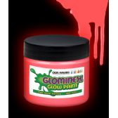 6 Units of Glominex Glow Paint Pint - Red - LED Party Supplies
