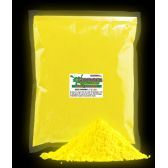 4 Units of Glominex Glow Pigment 1 kg - Yellow - LED Party Supplies