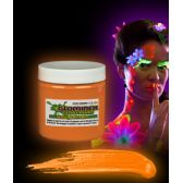24 Units of Glominex Glow Body Paint 4oz Jar - Orange