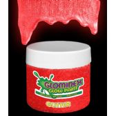 24 Units of Glominex Glitter Glow Paint 4 oz Jar - Red