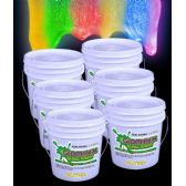 Glominex Glitter Glow Paint Gallons - Assorted