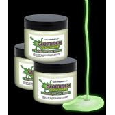 72 Units of Glominex Glow Paint 1 oz Jar - Invisible Day Green