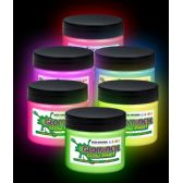 2 Units of Glominex Glow Paint 8 oz Jars - Assorted