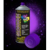 12 Units of Glominex Glow Spray Paint 4 oz - Purple
