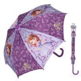 12 Units of Sofia The First Umbrella with easy grip handle and velcro strap closure - Umbrella