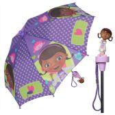 12 Units of Disney Doc Mcstuffins Molded Handle Umbrella for Children