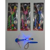 "36 Units of 6"" Flying Umbrella Propeller Toy with Blue Light"