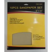 "36 Units of 9""x11"" 10pc Sandpaper Set - Paint and Supplies"