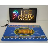 6 Units of Light Up Sign-ICE CREAM